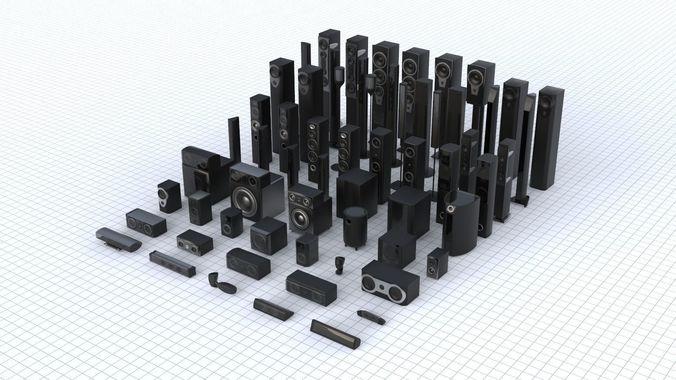sound set collection 3d model low-poly max obj mtl 3ds fbx 1