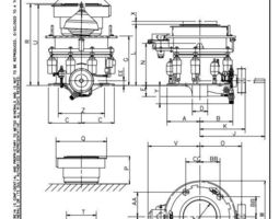 3D HP200 cone crusher complete 2D drawings Metso