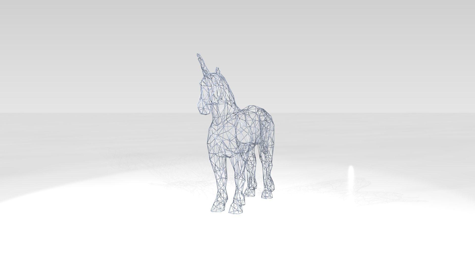 Unicorn Wireframe | 3D model