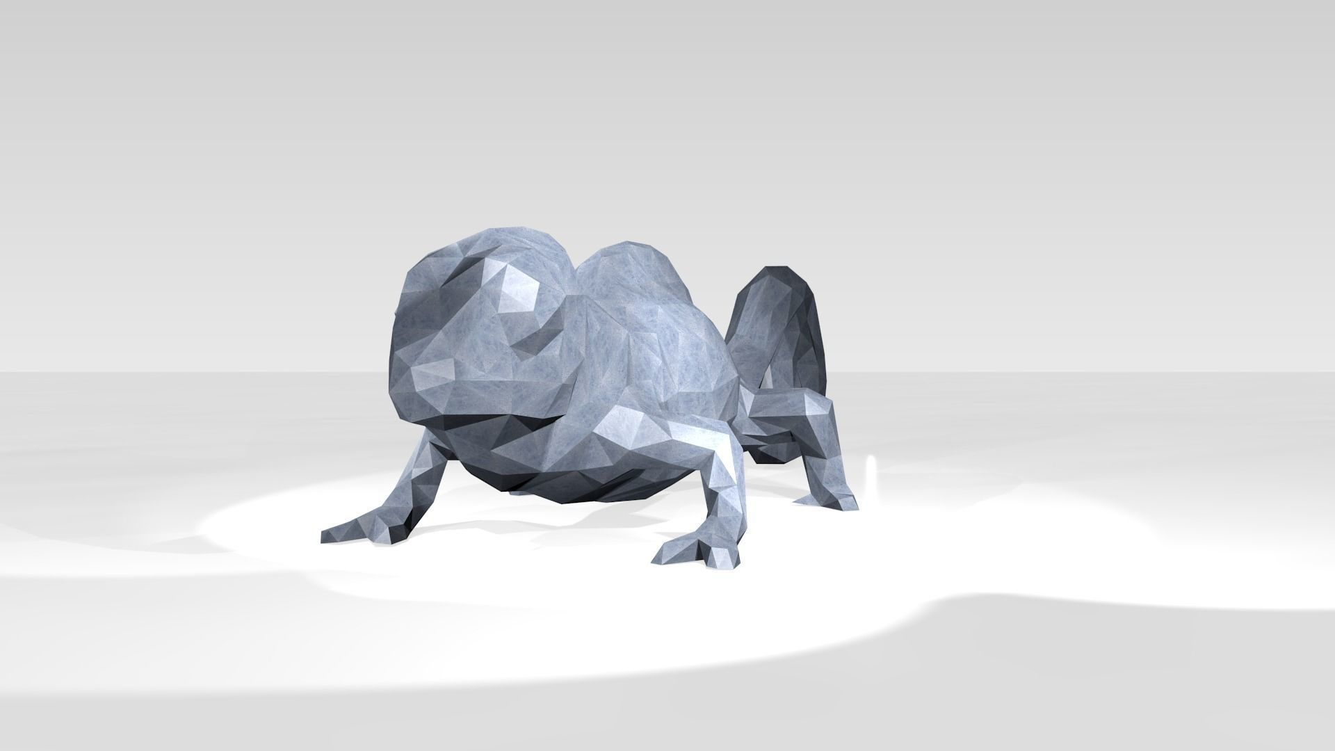 Chameleon Low Poligonal | 3D model