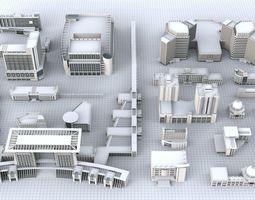 3D model Professional Building Kitbash Part 2