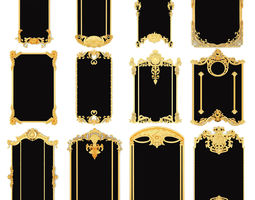 Collection stucco molding frame collection 3D model