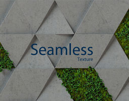 moss concrete - seamless 3d wall panel mossy
