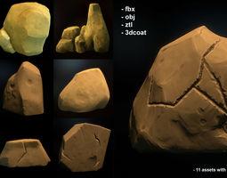 3D Fantasy stones pack 11 assets