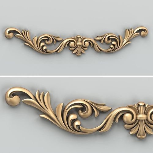 carved decor horizontal 026 3d model max obj mtl fbx stl 1
