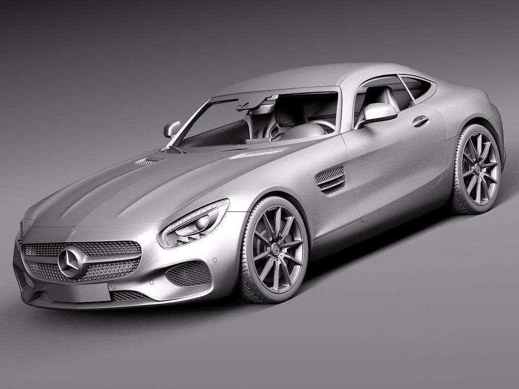 Mercedes Benz Amg Gt 2016 3d Model Max Obj 3ds Fbx