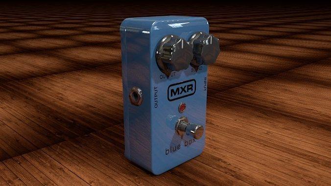 dunlop mxr blue box 3d model obj mtl 3ds c4d dxf 1