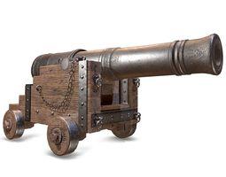 PBR War Cannon 3D model