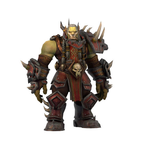 warcraft saurfang animated and rigged 3d model low-poly rigged animated ma mb 1