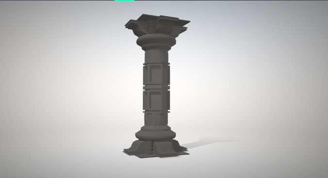 ancient pillar 3d model fbx 1