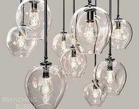 3D Branching bubble 1 lamp by Lindsey Adelman CLEAR BLACK
