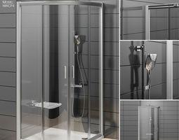 3D Semicircular shower enclosures Ravak Rapier