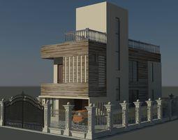 3D asset low-poly Exterior