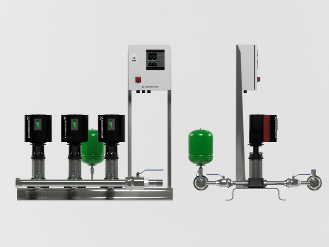 grundfos hydro mpc e 3 pump station 3d model max obj mtl 3ds fbx unitypackage prefab mat 1