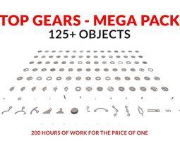 Top Gears Mega Pack 125 3D model