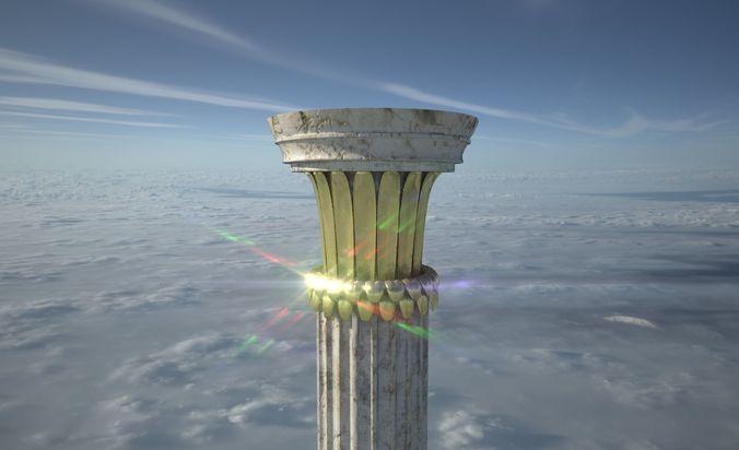 greek column highpoly 3d model fbx 1