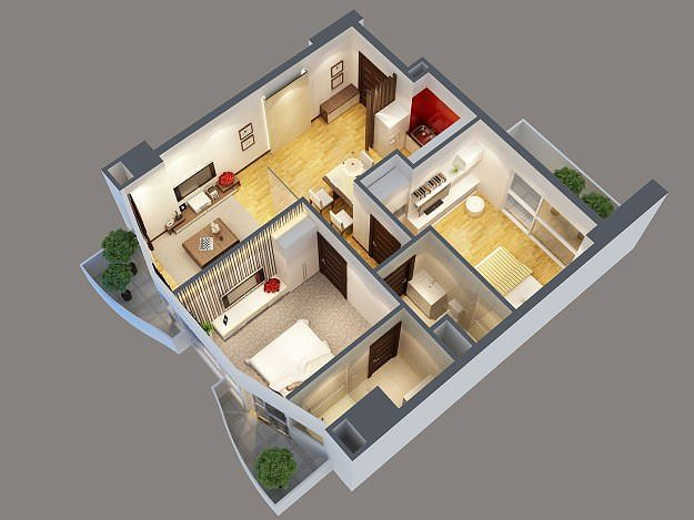 3d model modern interior apartment cgtrader for New model apartment