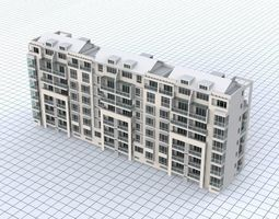 V-10 Apartment Building 3D asset