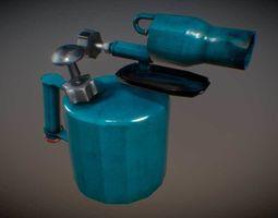 Burner low poly game and interier 3D model