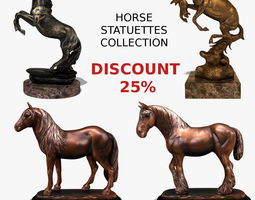 3D model Horse Statuettes Collection volume 3