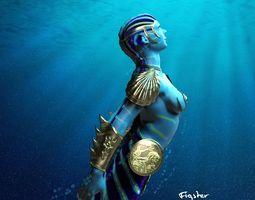 3D model Battle Mermaid