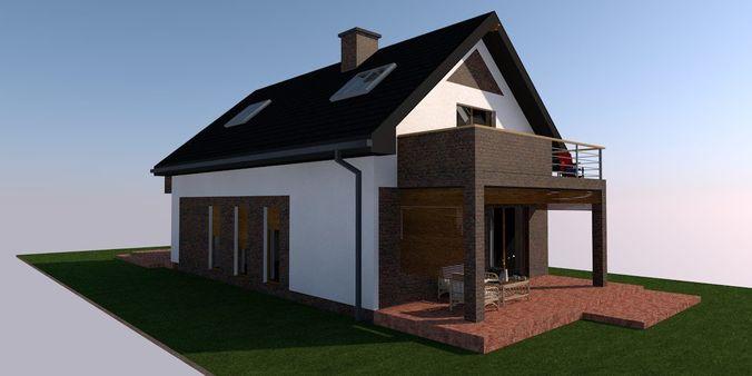 house building pla file 3d model gsm 1