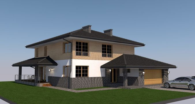 house design pla file 3d model gsm 1