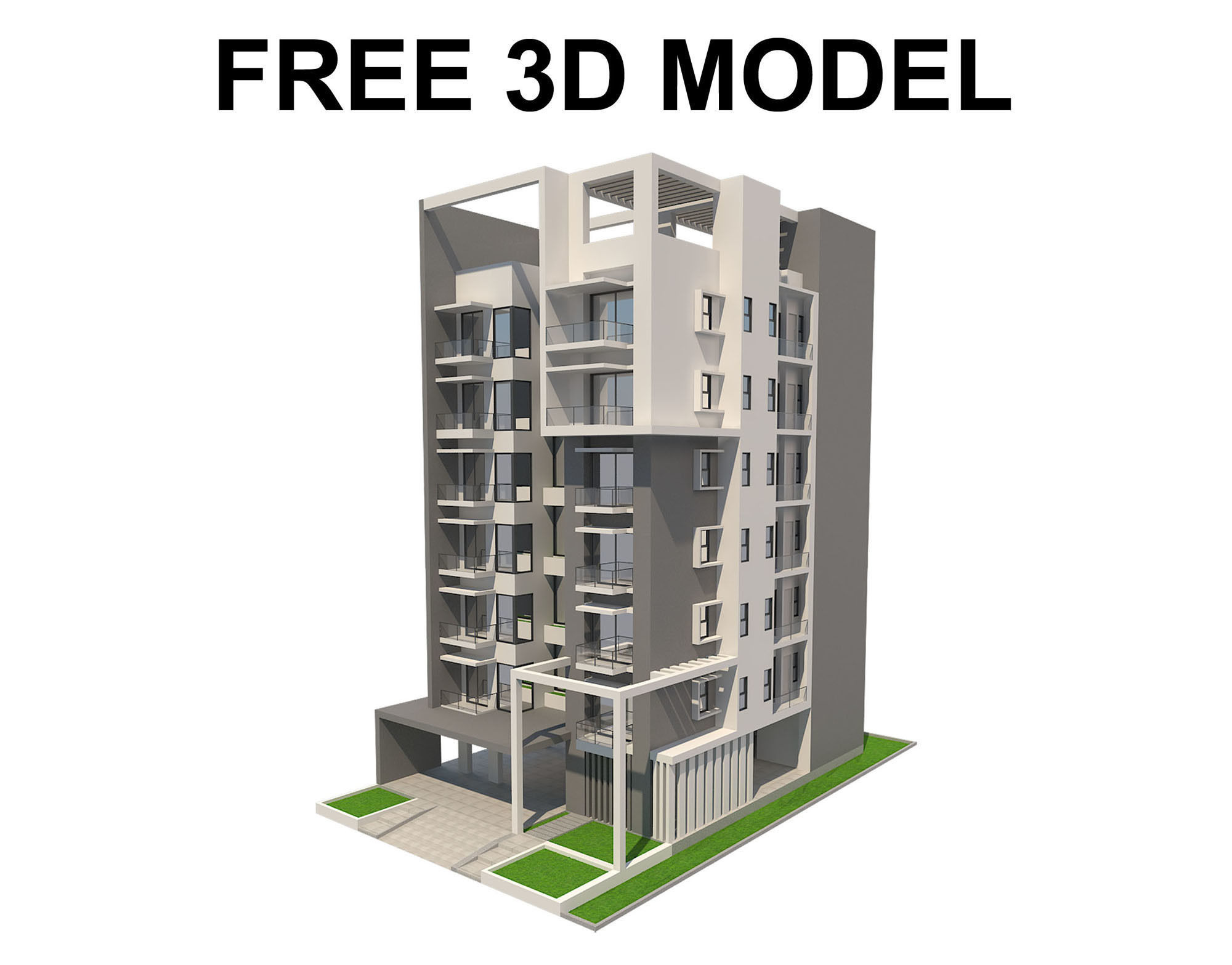 Apartment Building 01 Free Model