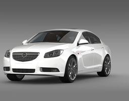Opel Insignia Hatchback Turbo 2008-13 3D Model