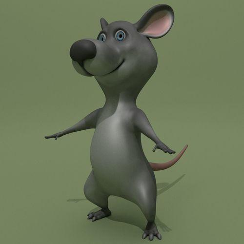 cartoon mouse 3d model obj mtl 3ds fbx ma mb blend 1