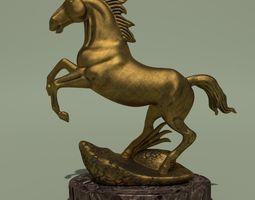 3d model horse statuette 2g