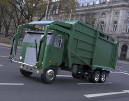 Garbage Truck 2 in 3ds and obj format