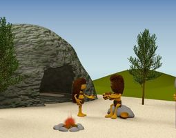 3D Prehistoric town