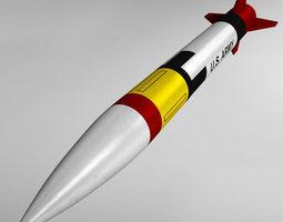 3D Patriot missile mim-104 high detail