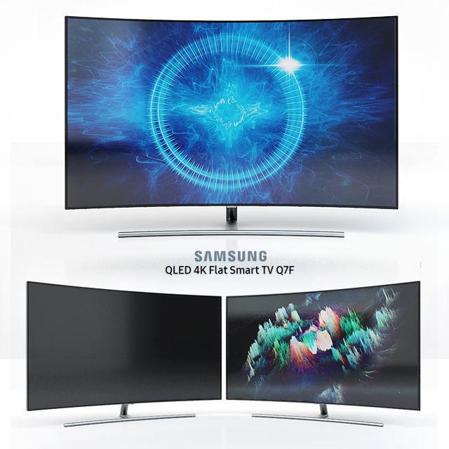 Samsung 55 and 65 QLED 4K Curved Smart TV Q8C | 3D model