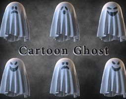 3D model Cartoon Ghost Pack