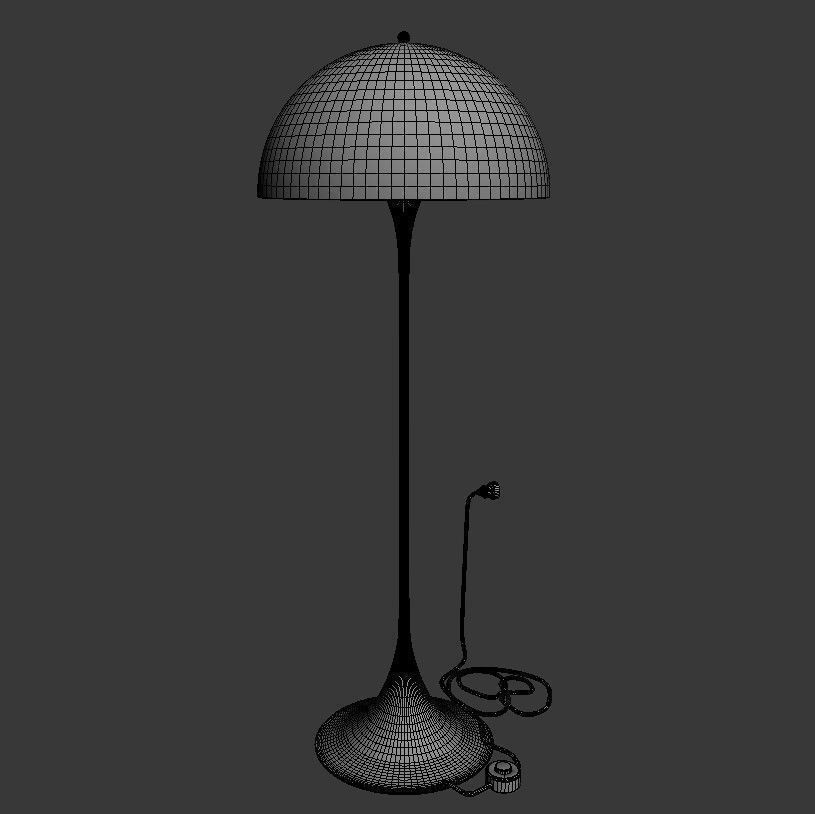 Verner Panton Panthella Floor Lamp 3d Model Max Obj Fbx
