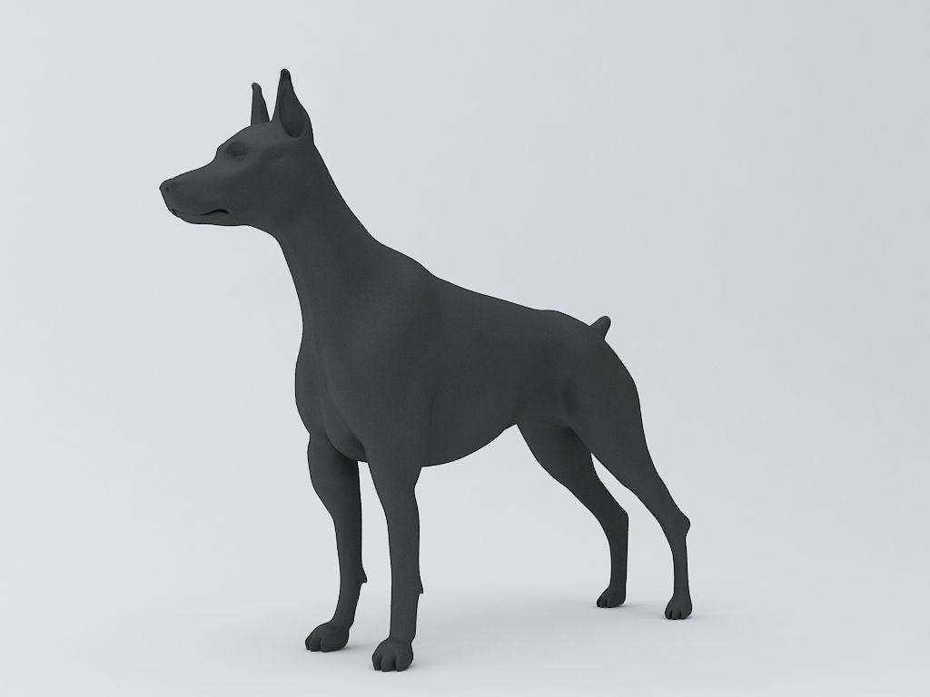 doberman pinscher dog 3d model 3d model 3d printable stl