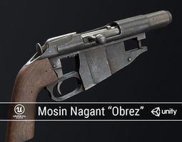 PBR Mosin Nagant Obrez 3D model