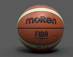 3d model PBR molten official basketball world cup ball