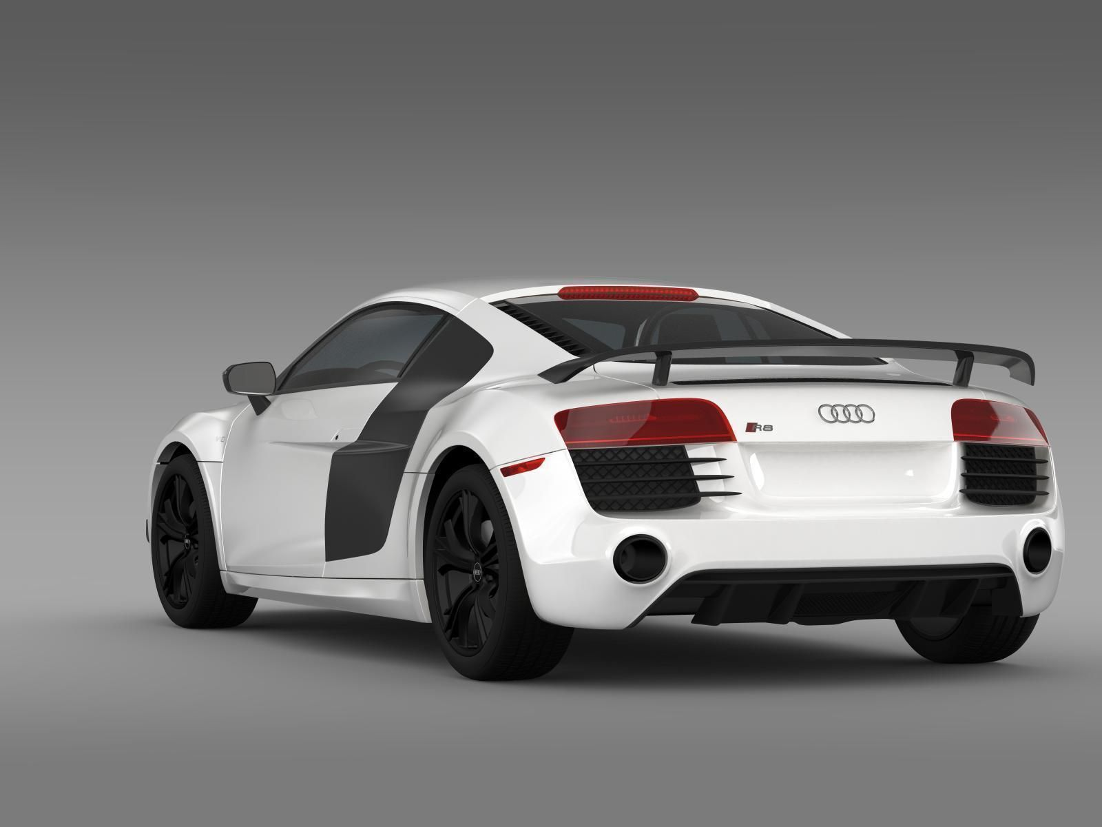 audi r8 petition 2015 3d model cgtrader