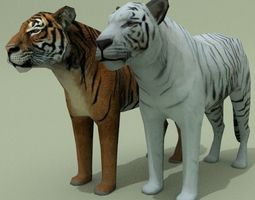 3D model LowPoly Tigers