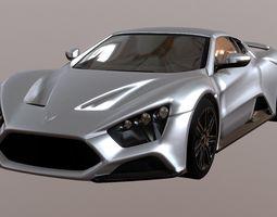Super Car Sport Car Zenvo ST 1 3D asset