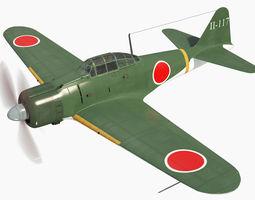 3D model Mitsubishi A6M2 Zero