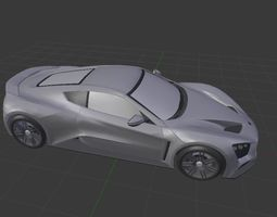Super car Zenvo ST 1 3D model VR / AR ready
