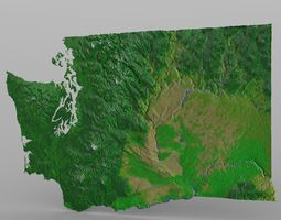 Washington State in 3ds and obj format