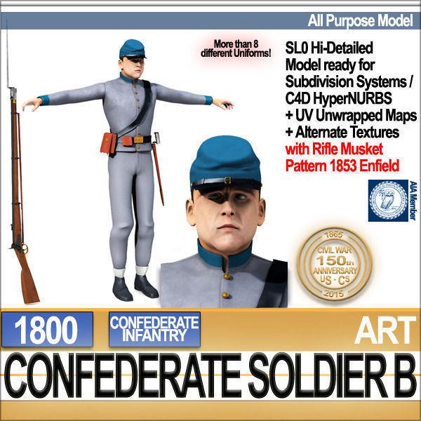 Civil War Confederate Soldier B Infantry