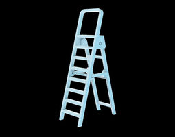 miniature 3d print ready folding ladder
