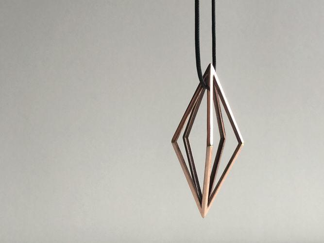 diamond pendant 1 3d model obj mtl 3ds stl 3dm dwg 1