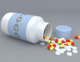 Medical Tablets Bottle 3D
